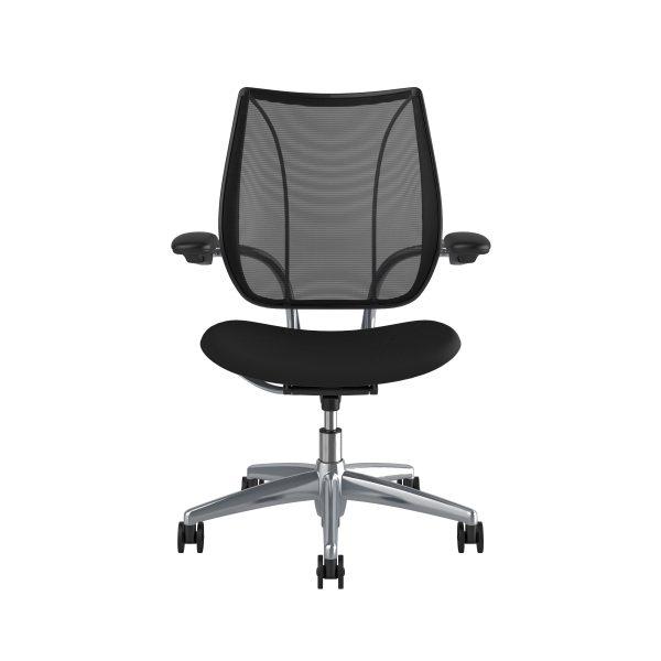 Freedom Task Chair Polished Aluminium Black Fabric