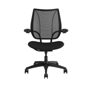 Liberty Task Chair Black Frame Black Fabric