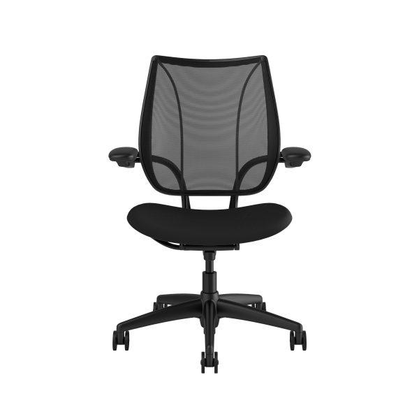 Liberty Task Chair Black Frame Black Fabric
