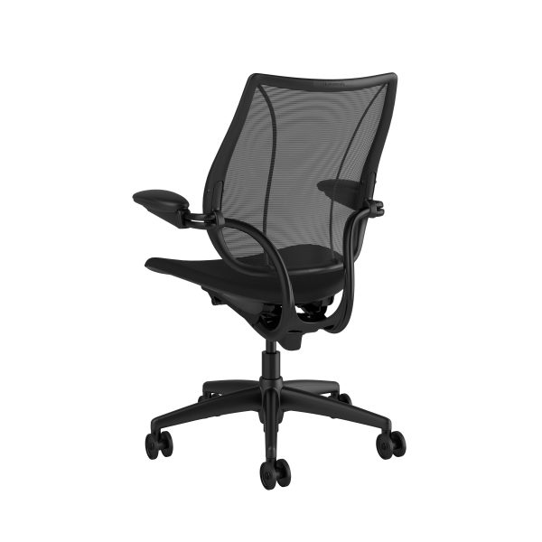 Liberty Task Chair Black Frame Black Fabric Rare View