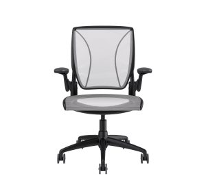 Diffrient World Chair Black Frame White Mesh