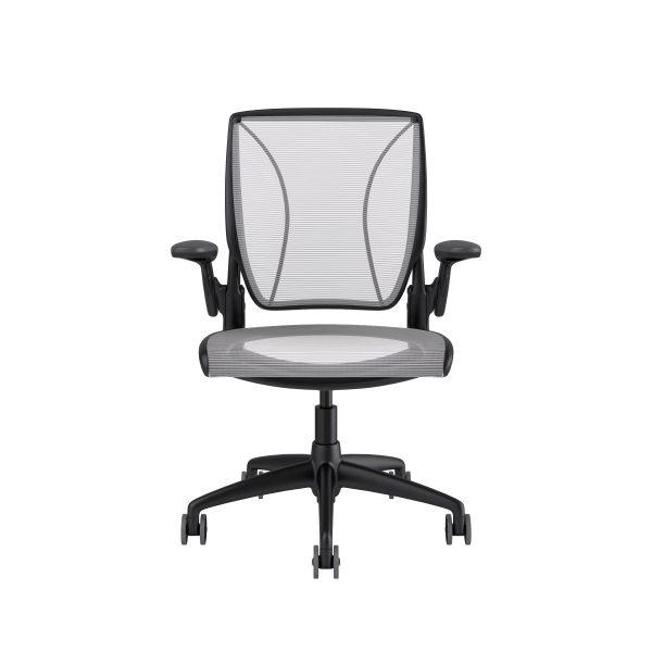 Diffrient World Chair Black Frame White Mesh