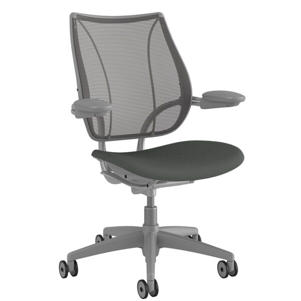 Humanscale Liberty Task Chair | Silver Frame - Revive Fabric Sideview