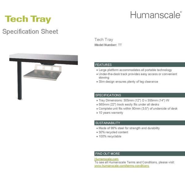 Tech Tray: Under Desk Organizer & Storage Detailed Specification