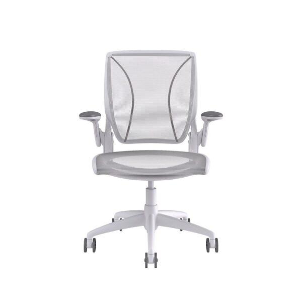 Humanscale Diffrient World Chair White Frame White Mesh