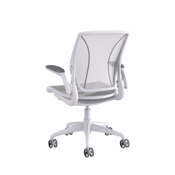 Humanscale Diffrient World Chair White Frame White Mesh Rare view