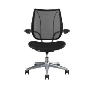 Humanscale Liberty Task Chair | Polished Aluminium – Black Leather