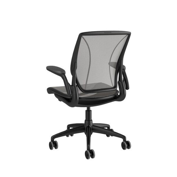 Diffrient World Chair - Black Frame Silver Mesh Rare View
