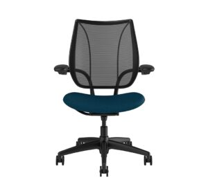 Liberty Task Chair Black Frame Blue Fabric