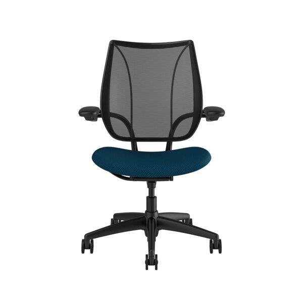 Liberty Task Chair Black Frame Blue Fabric