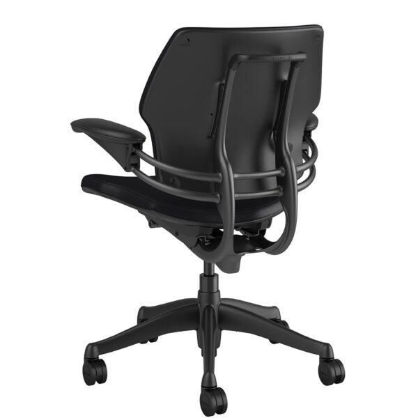 Freedom Task Chair Graphite Frame – Bizon Black Rare View