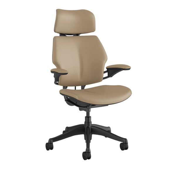 Freedom Headrest – Graphite Frame – Bizon Leather 481 Side View