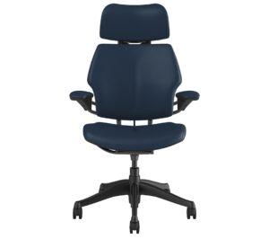Freedom Headrest – Graphite Frame – Bizon Leather Twilight Blue