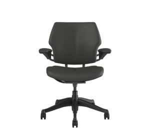 Freedom Task Chair Graphite Chair - Leather Ticino Charcoal Light Grey