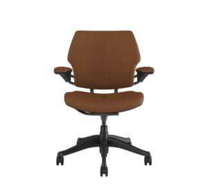 Freedom Task Chair Graphite Chair - Leather Ticino Corvara Saddle Tan